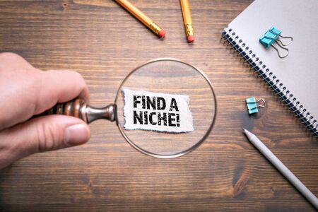 Encuentra un nicho. Negocios, Investigación, Conocimiento y Desarrollo