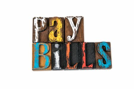Pay Bills. Finance, taxes, debt and liabilities, abstract background