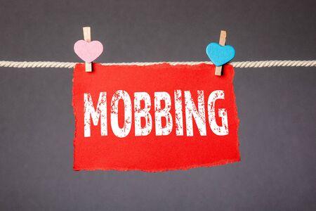 MOBBING. Relationships, disagreements, disputes and violence concept Zdjęcie Seryjne