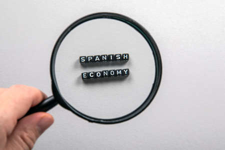 SPANISH ECONOMY concept. Imports and Exports, Growth, Planning and Reporting, National Budget Concept