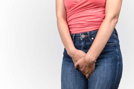 Gynecologic problems, urinary incontinence, womens health and hygiene Banco de Imagens