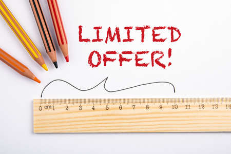 LIMITED OFFER. Sale, discounts and special offer concept