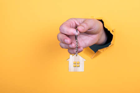 Key fob. Real estate, homes, renting and moving concep