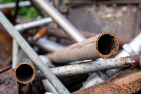 Rusty water pipes. Heating systems, plumbing and scrap metal Standard-Bild