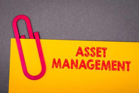 Asset management. Business concept. Documents on the office desk