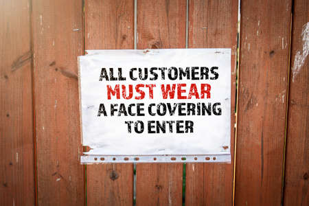 All customers must wear a face covering to enter.