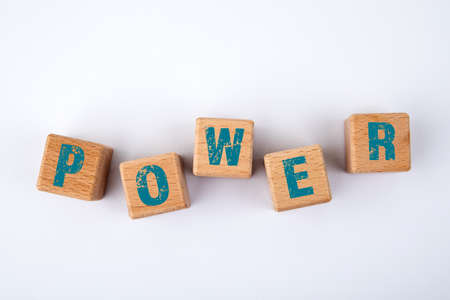 POWER CONCEPT. Wooden blocks with text on a white background