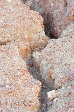 barrenness: earth with dry cracked ground Stock Photo