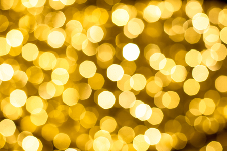 yellow background: blurred yellow color of bokeh background. Stock Photo