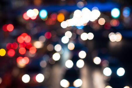 colorfu: colorful Bokeh of traffic jam in BANGKOK