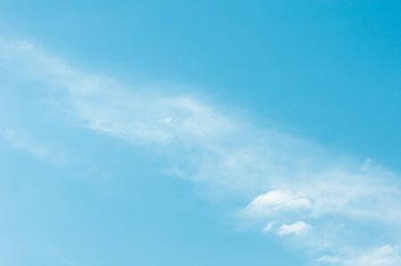 cumuli: white cloud on blue sky background Stock Photo