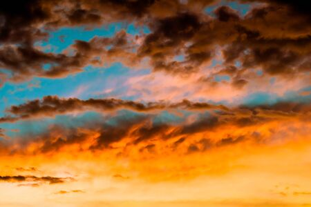 Heaven of landscape with beautiful colorful cloud