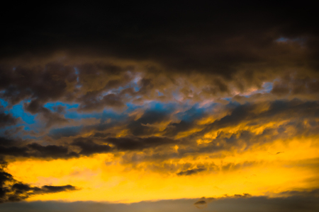 dark heaven of sky landscape with beautiful colorful cloud