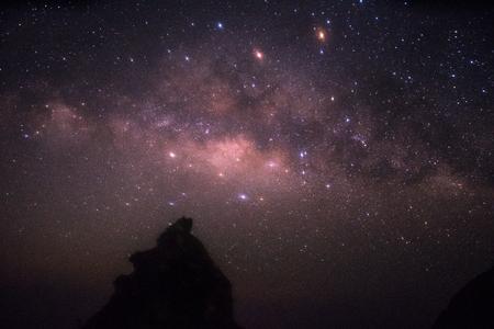 noise of milky way star in night time Standard-Bild