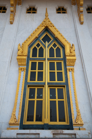 The beautiful window of the temple photo