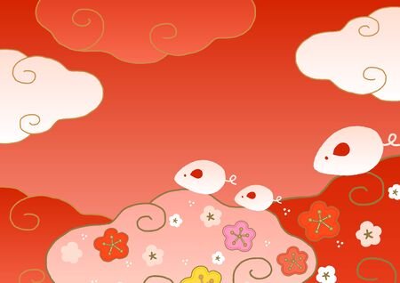chinese new year cloud and rats