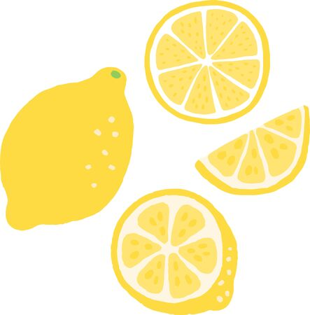 full lemon and cut lemon