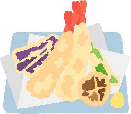 japanese tempura seafood and vegetable Stock fotó - 133449613