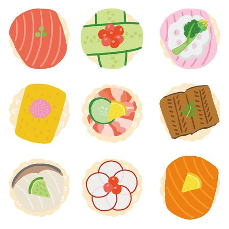 japanese girls festival finger food sushi