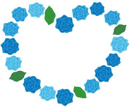 blue rose decoration heart frame