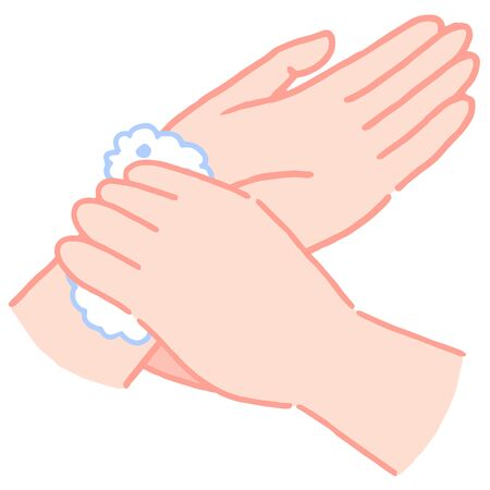 How to wash hands, wash wrist Иллюстрация