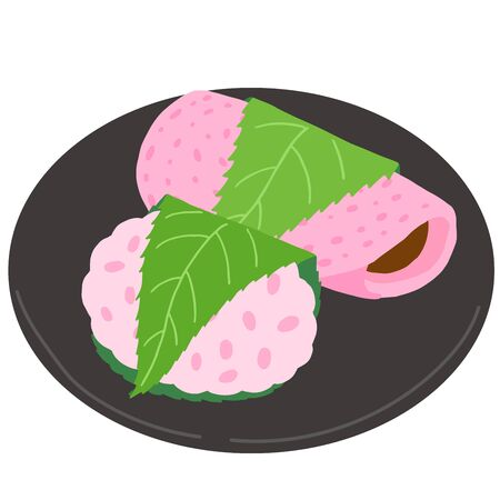 Japanese Sweets, Rice Dumpling Covered with Sakura Leaf