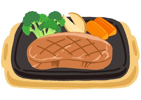 beef steak with vegetables, broccoli, potate and carrot