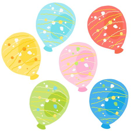 japanese colorful water balloons set