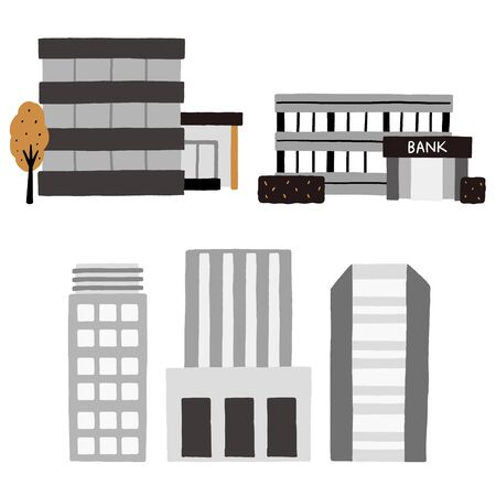 A set of buildings, companies, government offices, banks