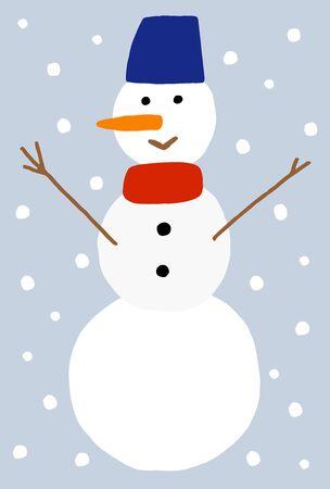 Winter Greeting card, Snowman