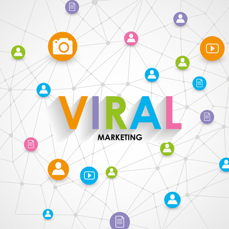 viral: Digital Marketing Concept - Viral Marketing - Vector Illustration