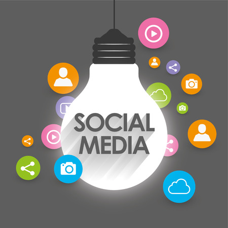 esquema: Social Media Concept - Marketing Viral - ilustraci�n vectorial