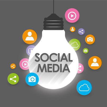 Social Media Concept - Virale Marketing - Vector Illustration Stock Illustratie