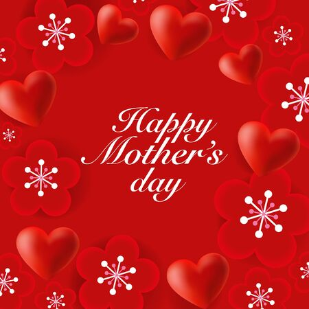 single color image: Mothers Day Greeting Card
