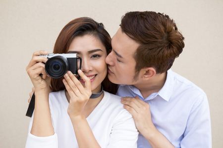 young asian: Young Asian happy couple together Stock Photo