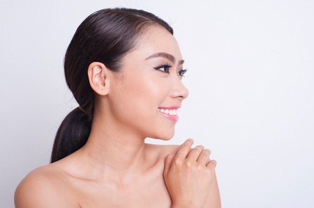 adult vietnam: Attractive asian woman skin care image