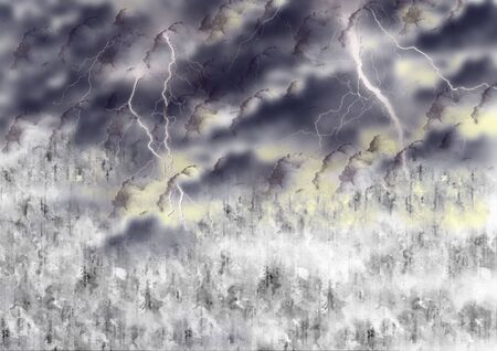 storm and lighting background Stock Photo