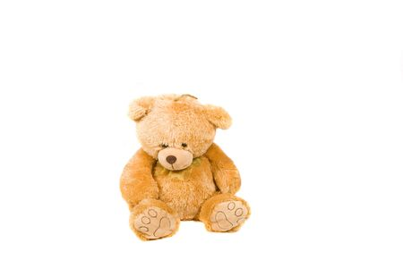 Classic teddy-bear isolated on white background Stock Photo