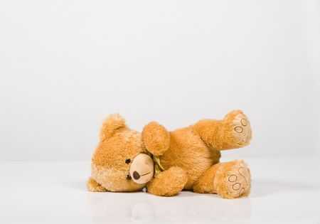 Classic teddy-bear isolated on white background Stock Photo - 6342442