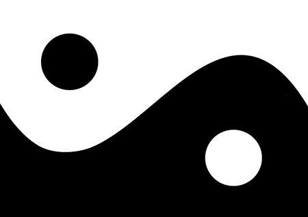 yang yin: Ying y el yang Foto de archivo