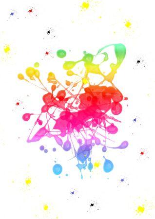 Colorful paint blot
