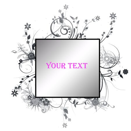 floral frame for your text