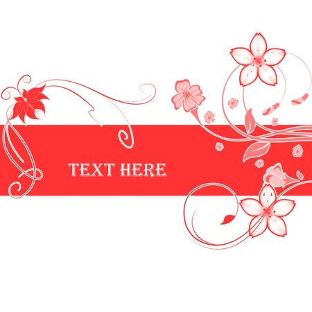 Abstract flowers with place for text Stock Photo - 6839782