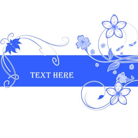 Abstract flowers with place for text Stock Photo - 6839786