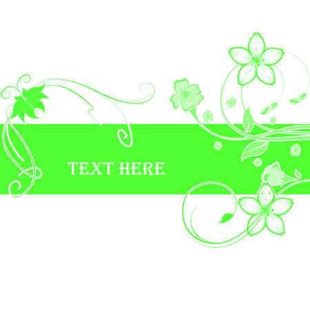 Abstract flowers with place for text Stock Photo - 6839788