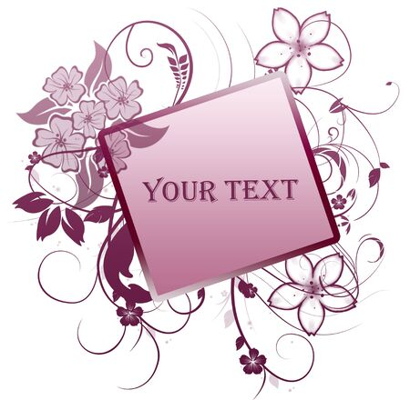 floral frame with place for text Stock Photo