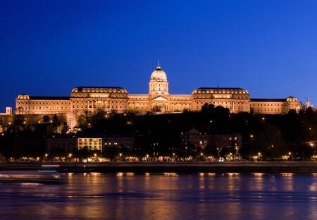 arhitect: night lights in Budapest  Stock Photo