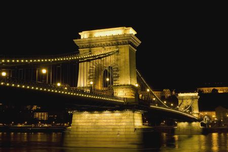 Hungary-Budapest Chain Bridge photo