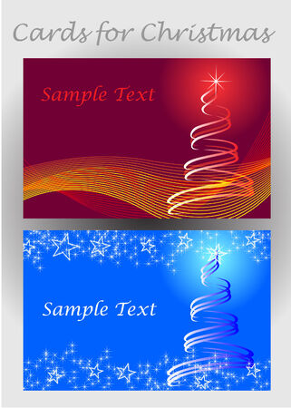 cards for Christmas Vector