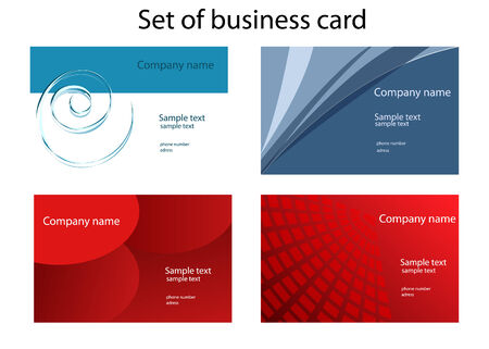 Set of colorful business card Illustration